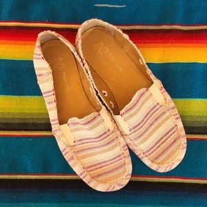 A2 | Striped Summer Slip on shoes